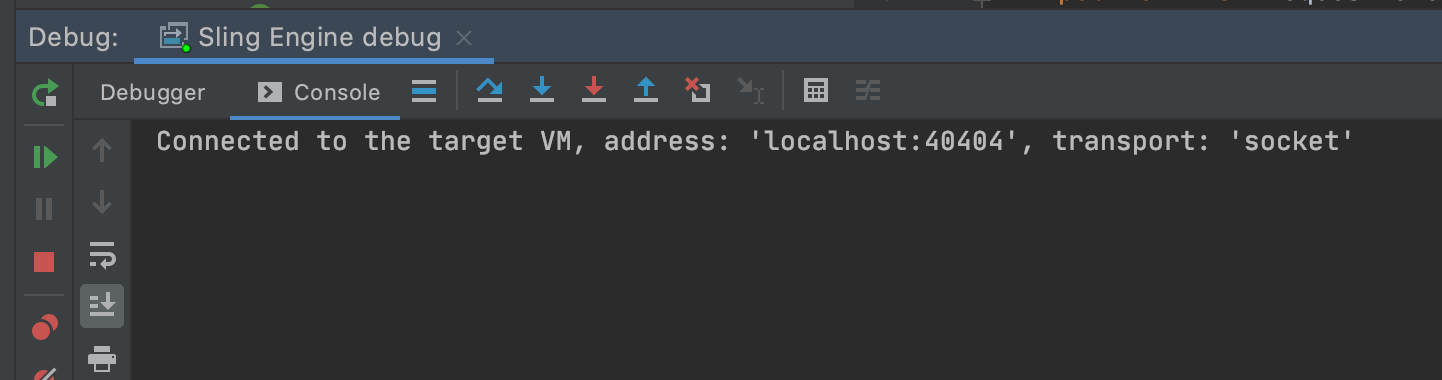 Debugger connected message in console